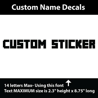 Personalized name vinyl decal sticker for car/truck laptop/netbook window custom