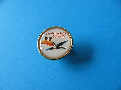 """Guinness """" Lovely Day For A Guinness """" Pin Badge, VGC. Unused. Toucan."""