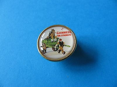 """Guinness """" For Strength """" Cart Horse Pin Badge, VGC. Unused."""