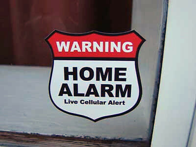 4 decals HOME ALARM SECURITY surveillance door stickers