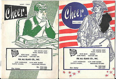 1969, Cheer Booklets Produced By Glass Company, Tampa, Florida