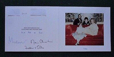 Signed Autograph Christmas Card from Prince & Princess Michael of Kent 1986