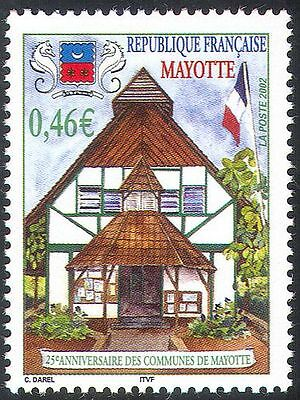 Mayotte 2002 Commune 25th Anniversary/Flag/Buildings/Architecture 1v (n42701)