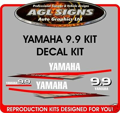 Yamaha 9.9  Decals, Outboard Reproduction