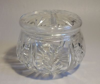 Vintage Cut Glass Crystal Pot with Lid #2. Table/ Dressing Table/ Keepsakes