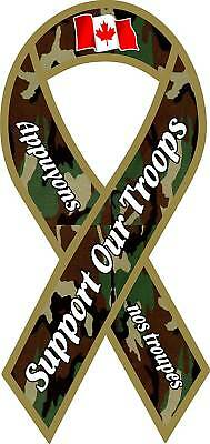 Support Our Troops Decal, Canadian Canada x-tra large