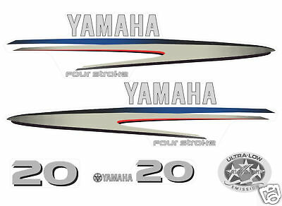 YAMAHA 20 HP four stroke DECALS, OUTBOARD REPRODUCTION stickers 15 hp
