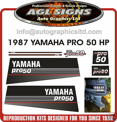 Yamaha Pro 50  Decals, Outboard Reproduction