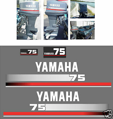 Yamaha 75  Decals, Outboard Reproduction