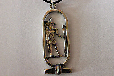 ANUBIS PENDANT Pewter Necklace Protector God of the Dead Witch Wicca Pagan