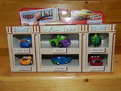 Disney Pixar Cars Mini Adventures Race Rods 6 Car Gift Pack Snot Rod Chick Hicks