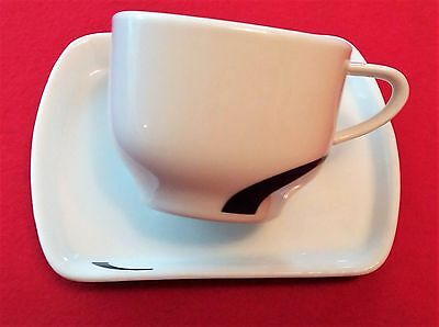 Virgin Trains Coffee Cup And Saucer/tray  Helios Design