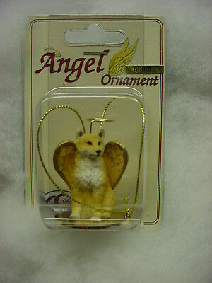 SHIBA INU dog ANGEL ORNAMENT Figurine HANDPAINTED Statue NEW Christmas puppy NEW