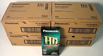 panasonic nv-e 120 hdl , 40 pezzi , vhs, new factory saled!