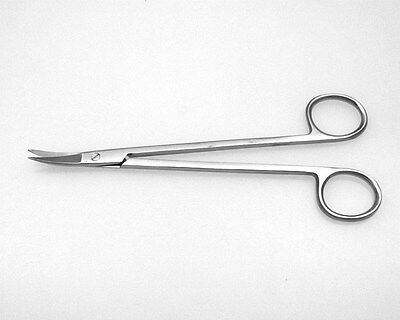 Kelly Scissors Curved Serrated Blade, Dental Surgical Instruments