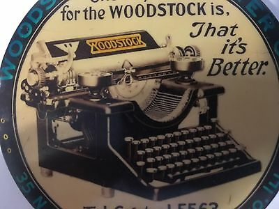Woodstock Typewriter Antique Celluloid Vintage Advertising Paperweight Chicago