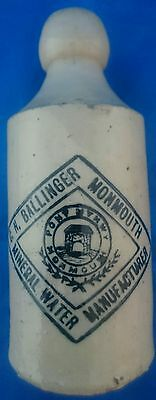 C.n Ballinger, Monmouth . Mineral Water Bottle (Wales )