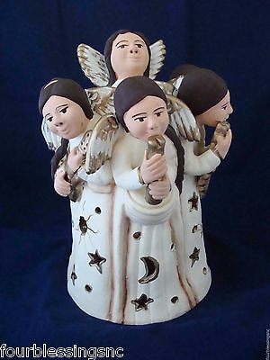 Red Clay Circle Of Angels Candle Holder-Made In Peru-New-Instruments-Aztec
