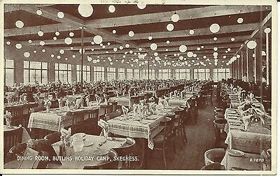BUTLINS HOLIDAY CAMP SKEGNESS THE DINING ROOM 1930s-40s G.7878 PC