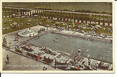 BUTLINS HOLIDAY CAMP SKEGNESS THE SWIMMING POOL 1940s-50s G.7245 PC