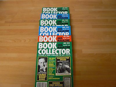Book and magazine collector nos.190 to 196 (6 issues) inc Ian Fleming James Bond