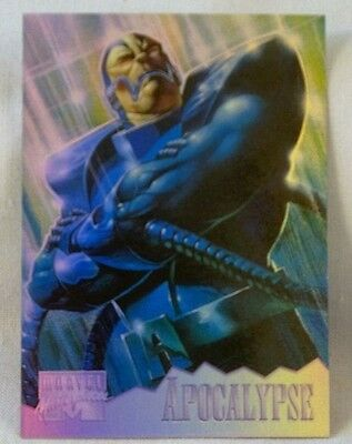 1995 MARVEL MASTERPIECES HOLOFLASH INSERT APOCALYPSE  #1 OF 8  NM Rare SINGLE CD