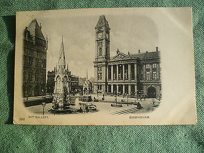 Art Gallery, Birmingham Real Photographic vintage postcard - posted 1903