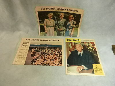 3 Des Moines Sunday Register Color1945 WWII Harry Truman George C Marsall FDR