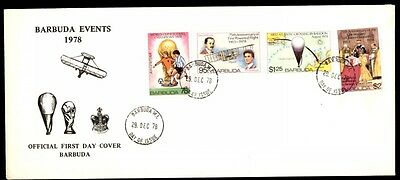 1978 Barbuda events official first day cover aircraft cachet
