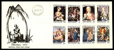 1975 Christmas first day cover with cachet nativity Antigua