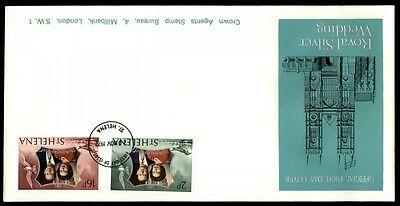 1972 St Helena Royal silver wedding first day cover