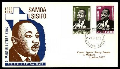 Samoa 1968 Martin Luther King 1968 Cacheted First Day Cover