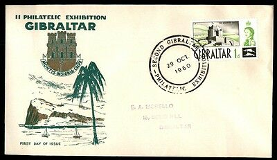 philatelic exhibition Gibraltar 1960 first day cover with cachet