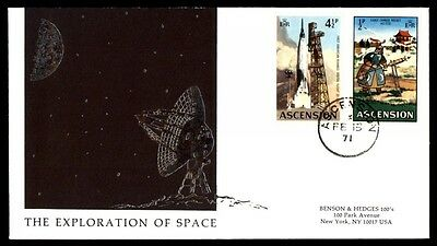 1971 ascension exploration of space illustrated cachet first day cover