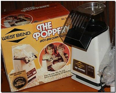 VTG WEST BEND THE POPPERY 1500 watts HOT AIR POPCORN MAKER 5459 POPPER ELECTRIC