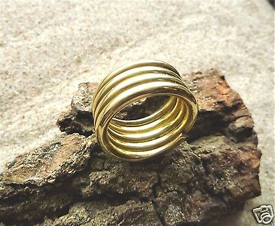 Ancient Viking  Bronze Twisted Ring (1756) .