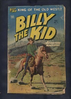 Billy the Kid   Golden  age western comic photo covers 4 & 5 rare last issue