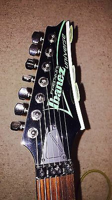 Ibanez UV70P-BK Universe 7 String Electric Guitar Black
