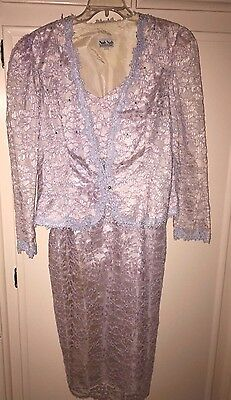 Nah Nah Collection, Mother Of The Bride, Dress  With Jacket, Size 14