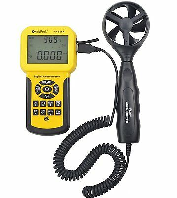 HOLDPEAK HP-856A Digital Anemometer / Thermometer for Air Velocity, Air Flow, T