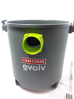 Craftsman Evolv Wet/Dry Vac Vacuum Cleaner - 5 Gallon - BUCKET BASE ONLY
