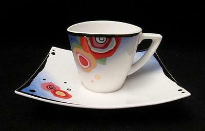 "Goebel Fine Bone China ""spring Breeze"" Demitasse Cup & Saucer Louis Feraud"