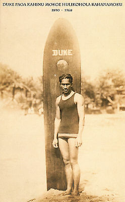 "Duke Kahanamoku - SURFER LEGEND Hawaii, Surf board Print, photo, 20""x12"""