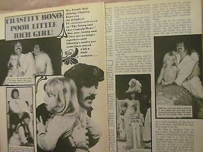 Sonny and Cher, Chastity Bono, Two Page Vintage Clipping