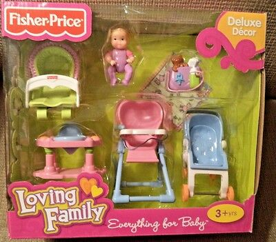 Fisher Price Loving Family Everything For Baby R9109 *nu*
