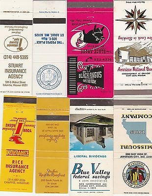 Lot Of 18 Different Missouri Matchbook Covers.  #3