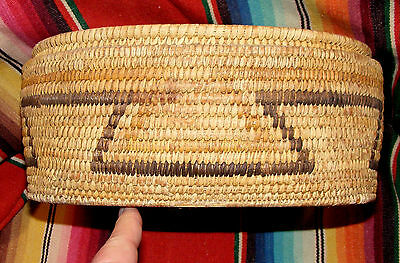 "NICE OBLONG NATIVE AMERICAN-SOUTHWEST BASKET-11"" L-BY 4 1/2"" DEEP-Good Cond."