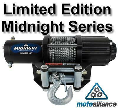 VIPER Midnight 4500lb ATV/UTV Winch with 50 feet of Steel Cable