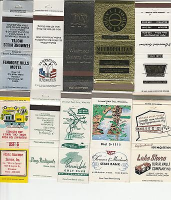 Lot Of 18 Different Wisconsin Matchbook Covers.  #4