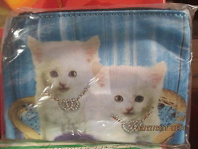 """Cat ~ White Kittens ~""""Hearts Entwined """"  Coin Purse"""